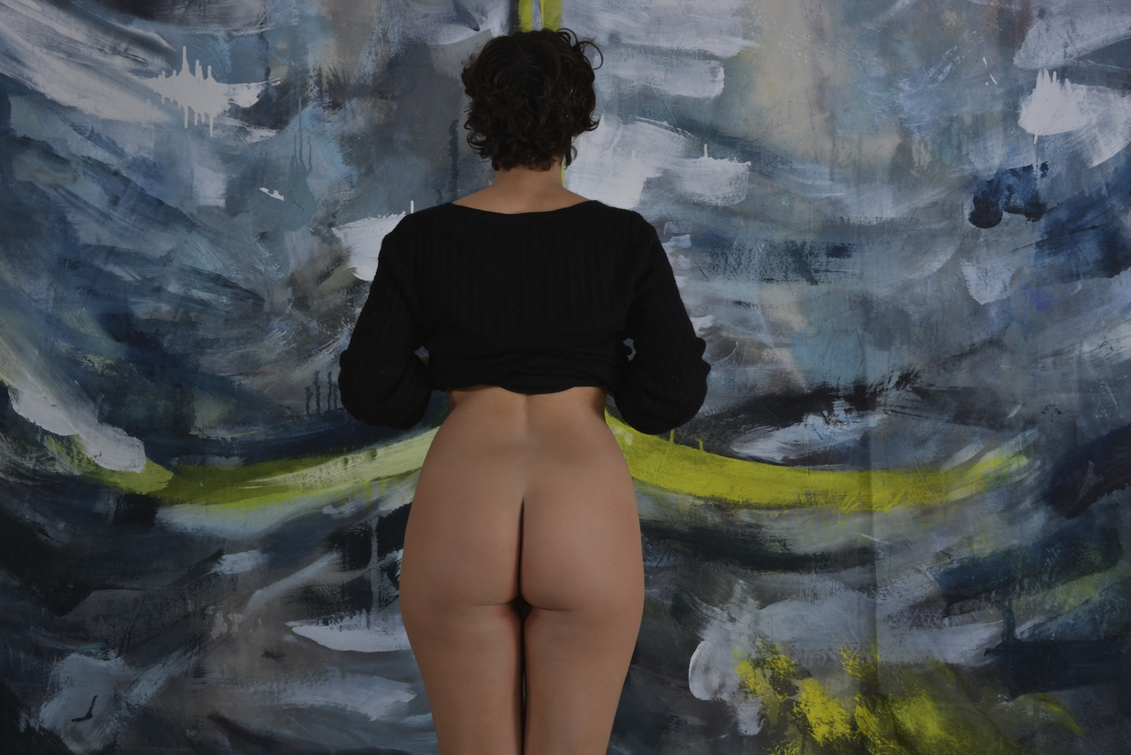Peinture-photo-performance-yoko-ono-fesse